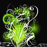 Abstract vector floral design stock photography