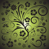 Abstract vector floral design stock illustration
