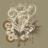 Abstract vector floral design stock photos