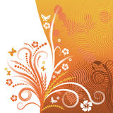 Abstract vector floral design. Beautiful abstract vector floral design Royalty Free Stock Images