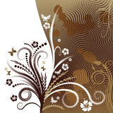 Abstract vector floral design Royalty Free Stock Photos
