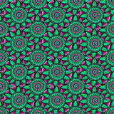 Abstract vector floral ethnic background Royalty Free Stock Photo