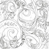 Abstract vector floral ornament.Vintage ornament background. Stock Images