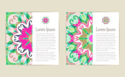 Abstract vector floral ornamental backgrounds Stock Image