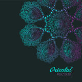 Abstract vector floral ornamental border. Stock Images