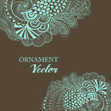 Abstract vector floral ornamental border. Lace pattern design Stock Image