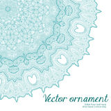 Abstract vector floral ornamental border. Lace pattern design. Royalty Free Stock Photo