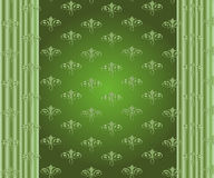 Abstract Vector Floral Ornamental Border. Lace Pattern Design On Green. Background Royalty Free Stock Photo