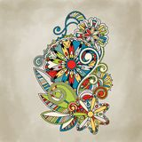 Abstract vector floral and ornamental item Royalty Free Stock Photos