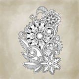 Abstract vector floral and ornamental item Royalty Free Stock Photography