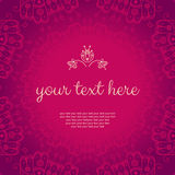 Abstract vector floral pink banner Stock Photography