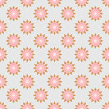 Abstract vector floral seamless pattern. Abstract floral seamless pattern with simple elements. Vector illustration Stock Photography
