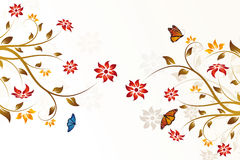 Abstract vector flower background Royalty Free Stock Photography