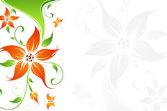 Abstract vector flower background with butterfly Stock Image