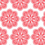 Abstract vector flower pattern. Illustration Royalty Free Stock Photo