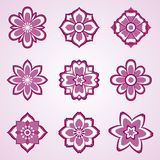 Abstract vector flower set Stock Images
