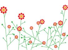 Abstract vector flowers Stock Images