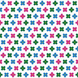 Abstract vector flowers seamless pattern Stock Images