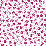 Abstract vector flowers seamless pattern Royalty Free Stock Images