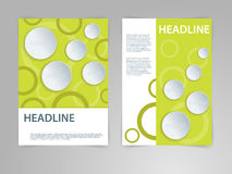 Abstract vector flyer, poster, magazine cover template in size A4 with 3D paper graphics. Eco, bio, natural, green Royalty Free Stock Image