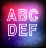 Abstract Vector Font Stock Images