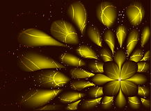 Abstract vector fractal resembling a flower on Royalty Free Stock Image