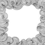 Abstract vector frame with curling lines Stock Photography