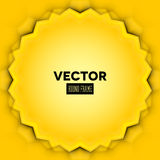 Abstract vector frame with yellow leaves Royalty Free Stock Photography
