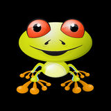 Abstract Vector Frog Illustration Royalty Free Stock Photography