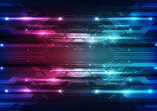 Abstract vector future speed technology background illustration Royalty Free Stock Images