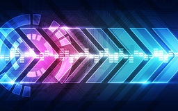 Abstract vector future speed technology background, illustration Stock Images