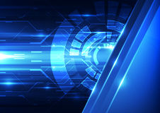 Abstract vector future technology background illustration Royalty Free Stock Photos
