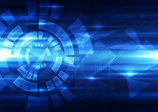 Abstract vector future technology concept background illustration Royalty Free Stock Images