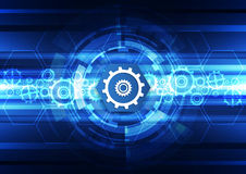 Abstract vector future technology engineering background illustration Royalty Free Stock Photography