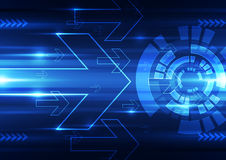 Abstract vector future technology speed background illustration Royalty Free Stock Photos