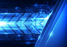 Abstract vector future technology speed background illustration Royalty Free Stock Images