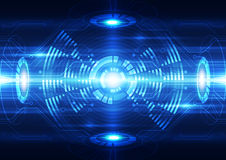 Abstract vector future technology telecom background illustration. Innovation Stock Photo