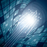Abstract vector futuristic blue Royalty Free Stock Images
