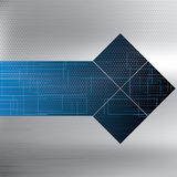 Abstract vector futuristic blue background Stock Photo