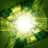 Abstract vector futuristic green Stock Images