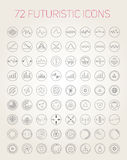 Abstract vector futuristic icons Stock Photography