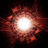Abstract vector futuristic red Royalty Free Stock Photos