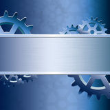 Abstract vector gear background. Abstract blue vector gear background Royalty Free Stock Photos