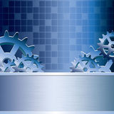 Abstract vector gear background Stock Photo
