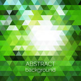 Abstract vector geometric background. Green fresh background. Ba. Ckdrop design element. Triangle backdrop can be used for web page background, identity style Stock Images