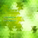Abstract vector geometric background. Green fresh background. Ba Stock Image