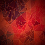 Abstract vector geometric background in warm Royalty Free Stock Images