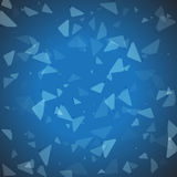 Abstract vector geometric blue background. Vector geometric abstract background with triangles Royalty Free Stock Photo