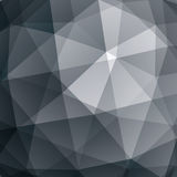 Abstract vector geometric 3D background, grayscale decorative pa Stock Image