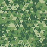 Abstract vector geometric forest seamless background Royalty Free Stock Images